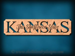Kansas - The Sunflower State Scroll Saw Pattern
