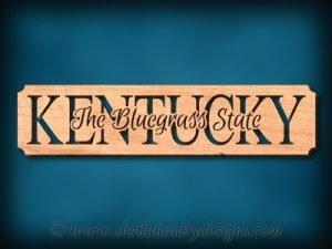 Kentucky Bluegrass Scroll Saw Pattern