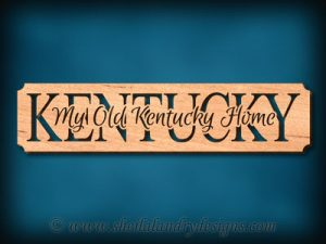My Old Kentucky Home Scroll Saw Pattern