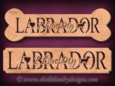 Labrador Scroll Saw Pattern