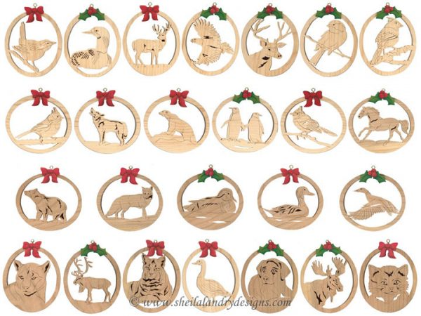 Laser Wildlife Ornament Patterns