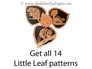 Little Leaf Wildlife Scroll Saw Pattern