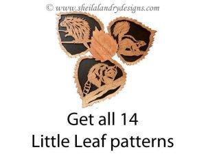 Little Leaf Wildlife Scroll Saw Pattern