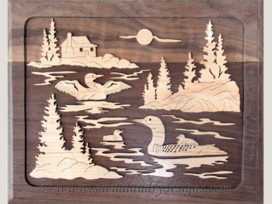 Loons Nature Scroll Saw Pattern