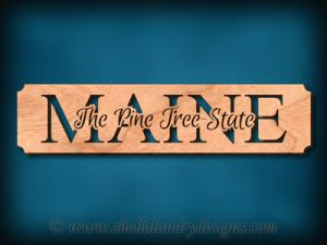 Maine - The Pine Tree State Scroll Saw Pattern