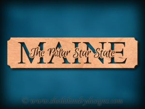 Maine - The Polar Star State Scroll Saw Pattern
