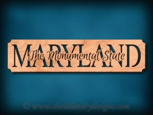 Maryland - The Monumental State Scroll Saw Pattern