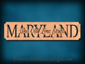 Maryland - The Old Line State Scroll Saw Pattern