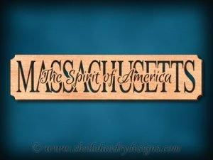 Massachusetts - The Spirit Of America Scroll Saw Pattern
