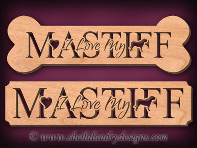 Mastiff Scroll Saw Pattern