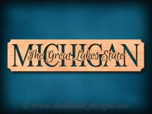 Michigan - The Great Lakes State Scroll Saw Pattern