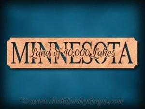Minnesota Land Of 10,000 Lakes Scroll Saw Pattern