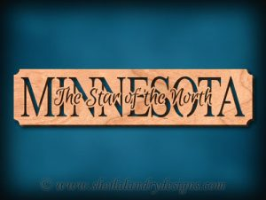 Minnesota - The Star Of The North Scroll Saw Pattern