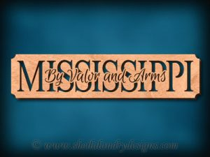 Mississippi - Valor And Arms Scroll Saw Pattern