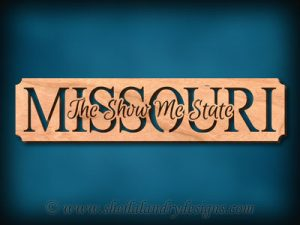Missouri - The Show Me State Scroll Saw Pattern