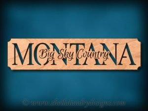 Montana - Big Sky Country Scroll Saw Pattern