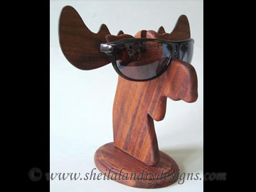 Moose Glasses Stand Scroll Saw Pattern