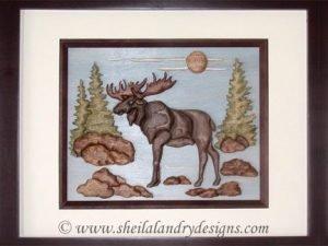 Moose Intarsia Pattern