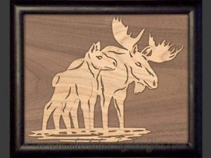 Moose Overlay Scroll Saw Pattern