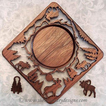 Moose Scroll Saw Nature Pattern