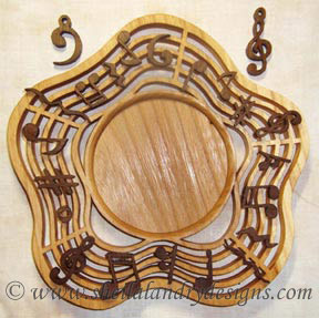 Music Candle Tray Laser Pattern