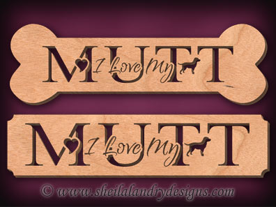 Mutt Scroll Saw Pattern