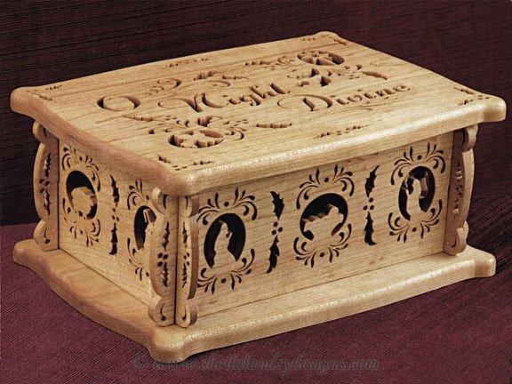 Nativity Scroll Saw Box Pattern