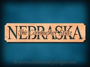 Nebraska - The Cornhusker State Scroll Saw Pattern