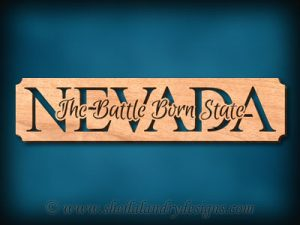 Nevada - The Battle Born State Scroll Saw Pattern