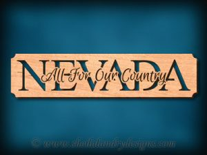 Nevada - All For Our Country Scroll Saw Pattern