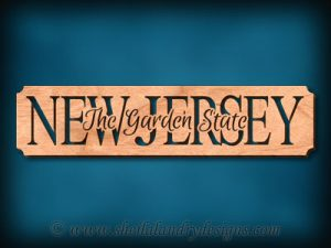 New Jersey - The Garden State Scroll Saw Pattern