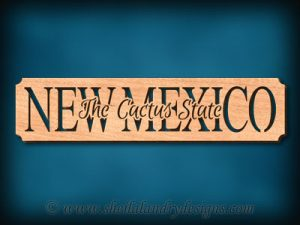 New Mexico - The Cactus State Scroll Saw Pattern