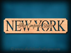 New York - The Empire State Scroll Saw Pattern
