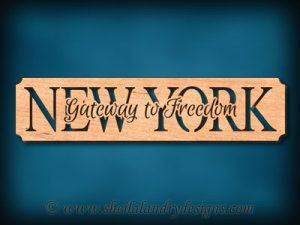 New York - Gateway To Freedom Scroll Saw Pattern