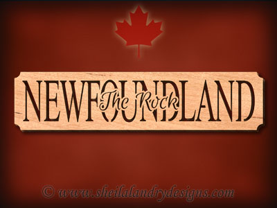 Newfoundland - The Rock Scroll Saw Pattern