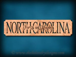 North Carolina - First In Flight Scroll Saw Pattern