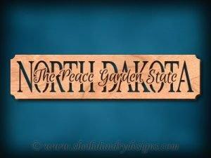North Dakota Garden State Scroll Saw Pattern
