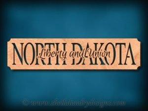 North Dakota - Liberty And Union Scroll Saw Pattern