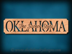 Oklahoma - The Sooner State Scroll Saw Pattern
