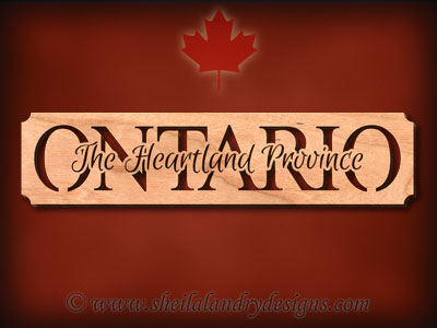 Ontario - The Heartland Province Scroll Saw Pattern