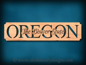 Oregon - The Beaver State Scroll Saw Pattern