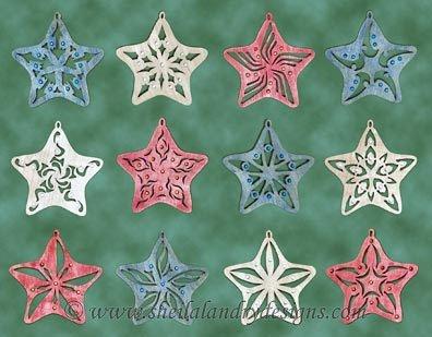 Patriotic Stars Laser Pattern
