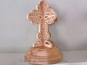 Pedestal Cross Scroll Saw Pattern