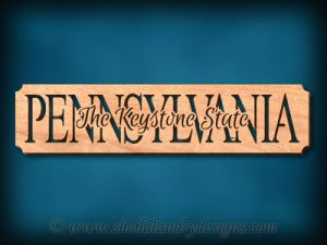 Pennsylvania - The Keystone State Scroll Saw Pattern