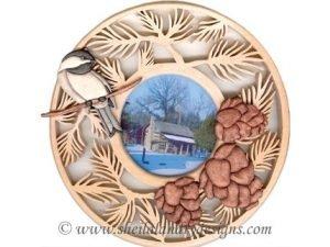 Pinecone Chickadee Intarsia Pattern