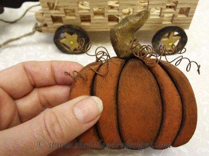 Pumpkin Intarsia Pattern