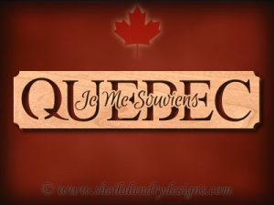 Quebec - Je Me Souviens Scroll Saw Pattern