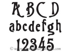Rebecca Scroll Saw Stencil Letters