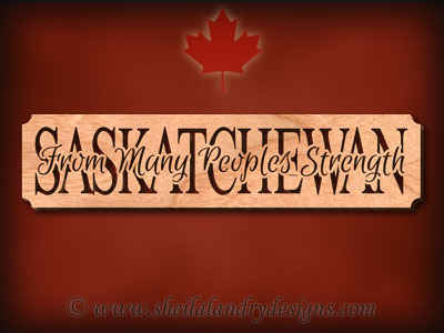 Saskatchewan - From Many Peoples Strength Scroll Saw Pattern