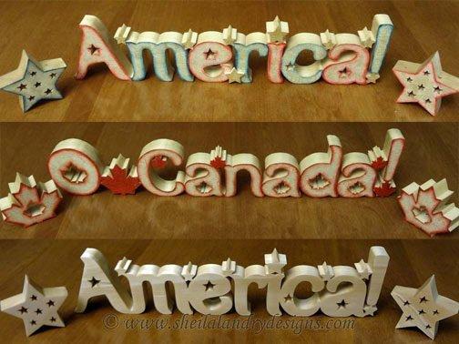 Scroll Saw America Pattern
